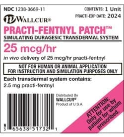 Wallcur Practi-Fentanyl Patch for Simulation from DiaMedical USA
