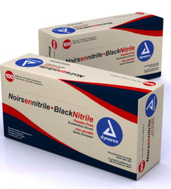 Black Nitrile Exam Gloves