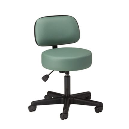 Classic Physician Stool with Backrest | FR042351 | Furnishings / Exam Stools