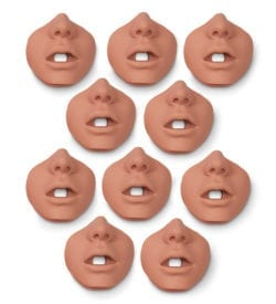 Face Pieces for Brad Jr. Manikin 10 Pack